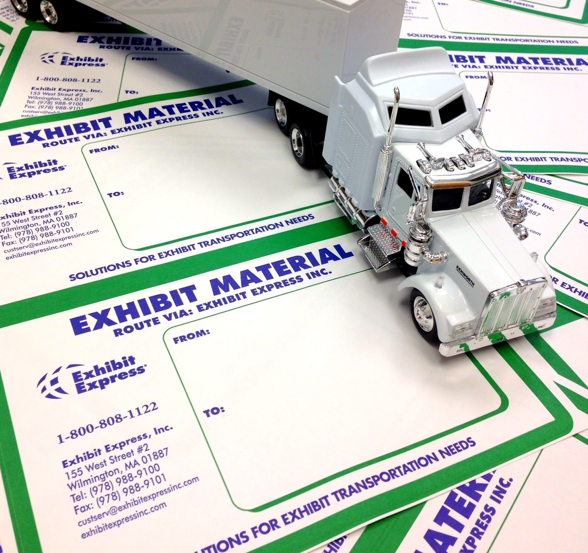 Exhibit Express shipping labels